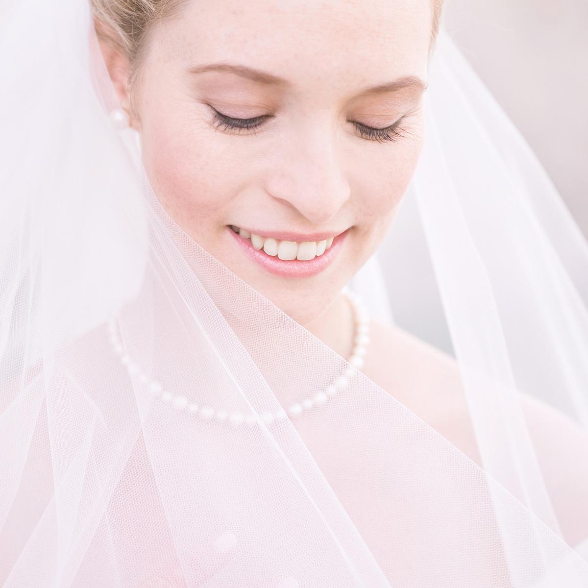 Hochzeitsfotos in Heidelberg. Braut Portrait mit Schleier